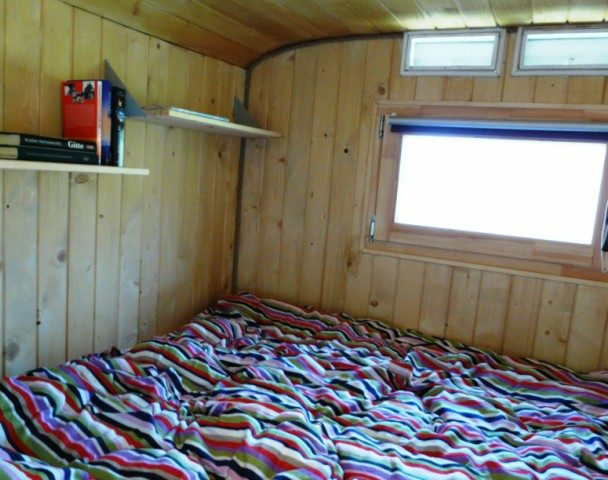 Bed with view tiny house dobra luka